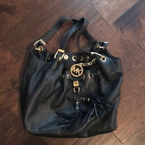 Great condition- Michael Kors Black leather purse